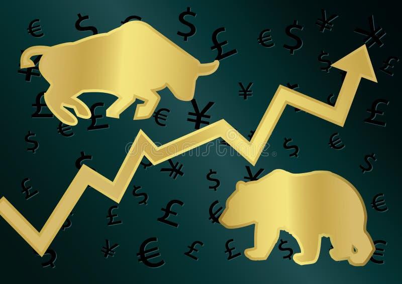 Торговля валютой иллюстрация штока