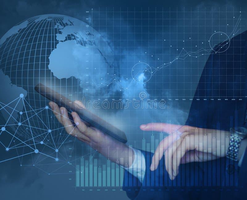Торговля на мировом рынке с помощью новым технологиям бесплатная иллюстрация