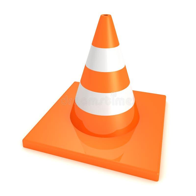Торгуйте оранжевой дорогой под конусом конструкции на белой предпосылке бесплатная иллюстрация