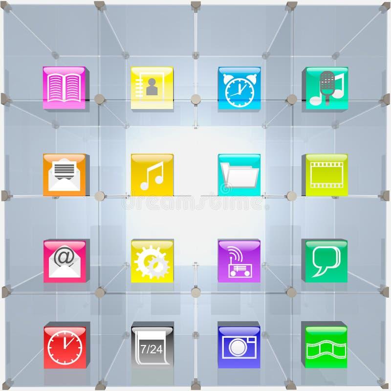 Торгуя витрина и иконы. иллюстрация штока