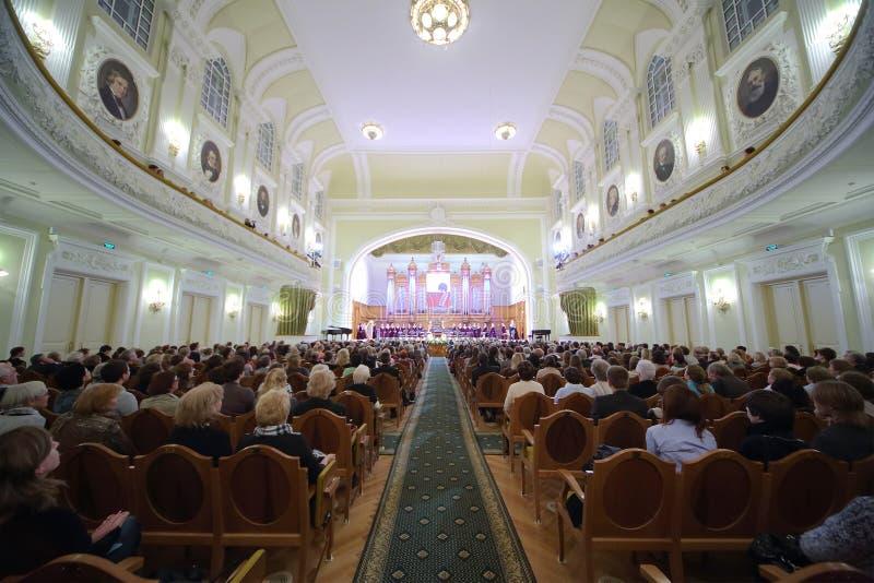 Торжественный вечер предназначенный к 100th годовщине Все-русской ассоциации музея стоковая фотография rf