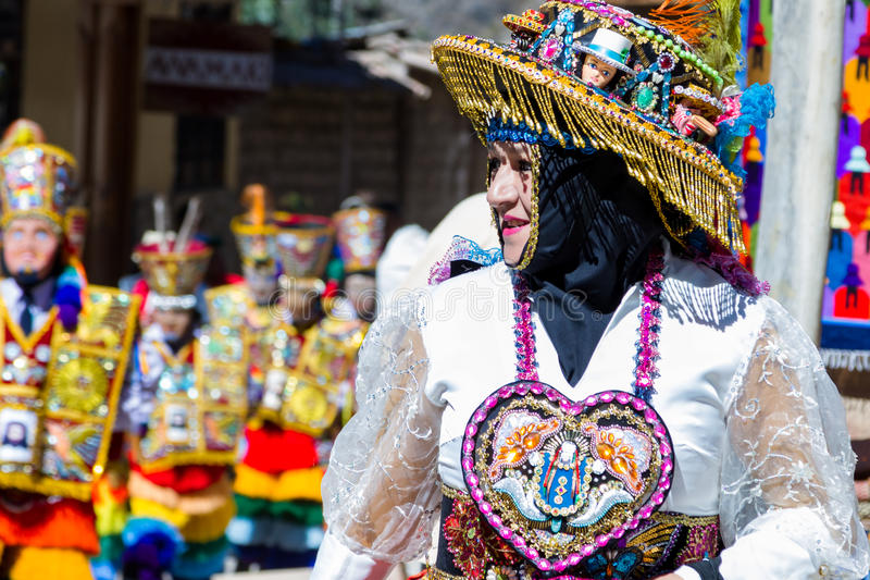 Торжество в Ollantaytambo Перу стоковое фото rf