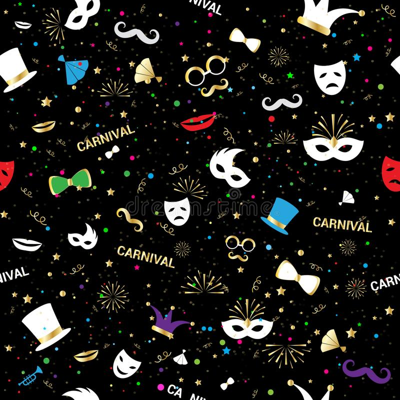 Торжество ночи предпосылки картины Handmade венецианского masquerade украшения партии лицевого щитка гермошлема масленицы вектора иллюстрация вектора