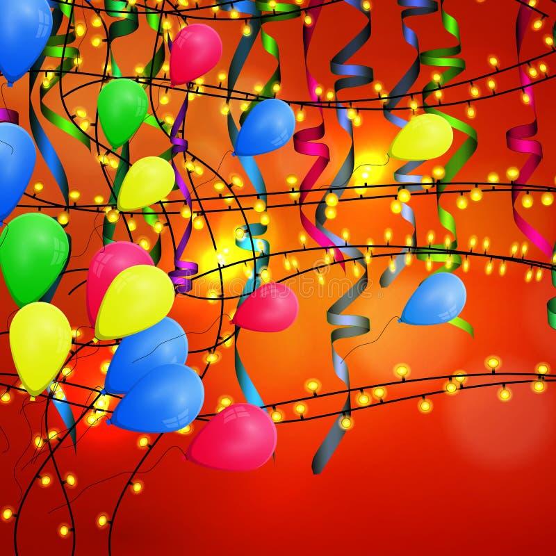 Торжество дня рождения предпосылки концепции стоковая фотография