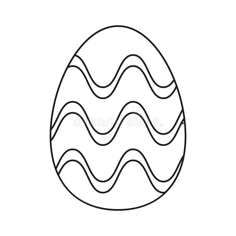 Торжество орнамента пасхального яйца утончает линию иллюстрация штока