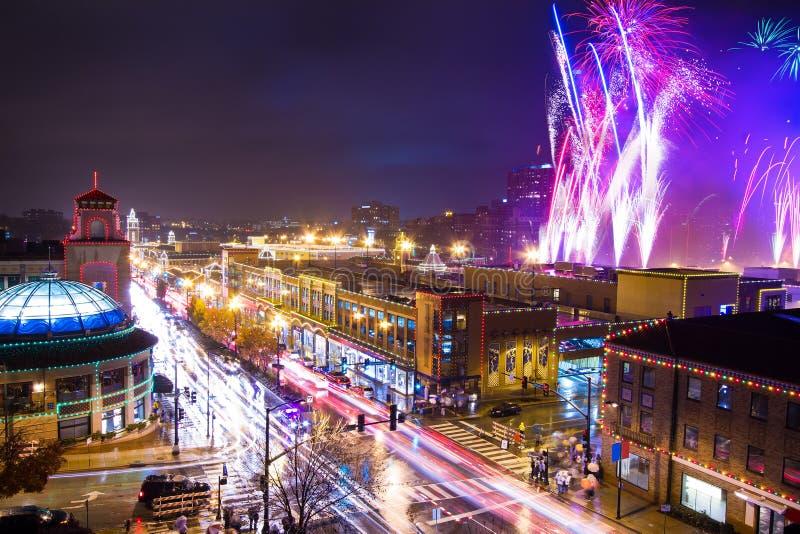 Торжество освещения площади Kansas City стоковое изображение