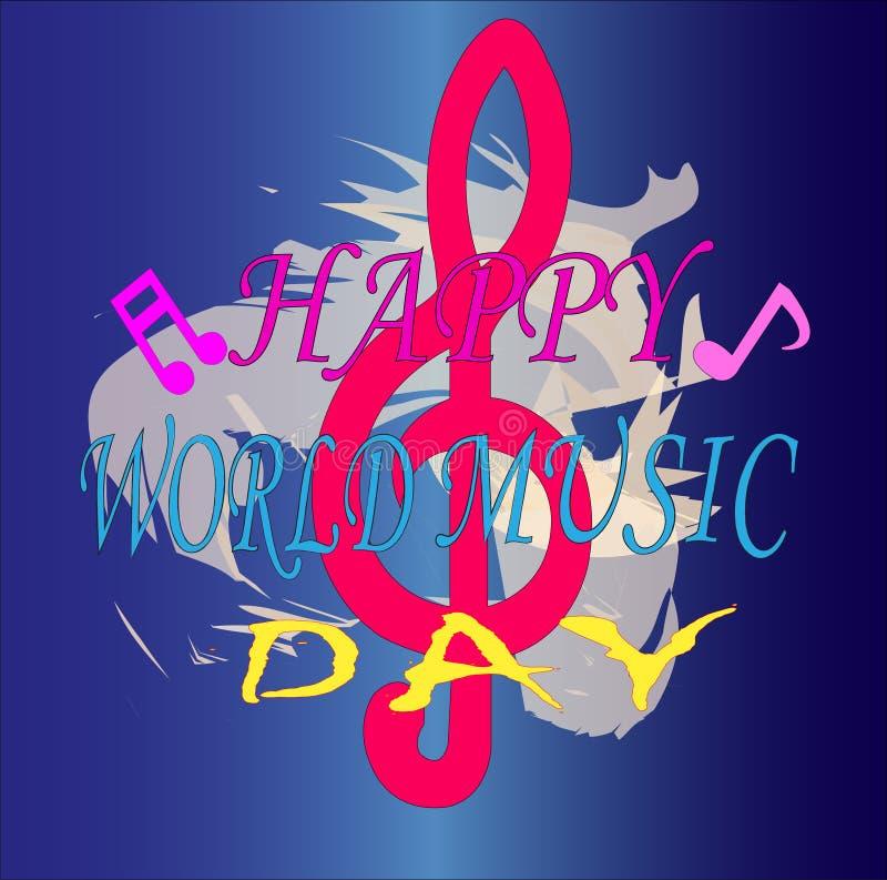 Торжество предпосылки дня музыки мира для вашего дела иллюстрация вектора
