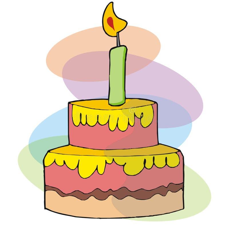 торжество торта иллюстрация вектора