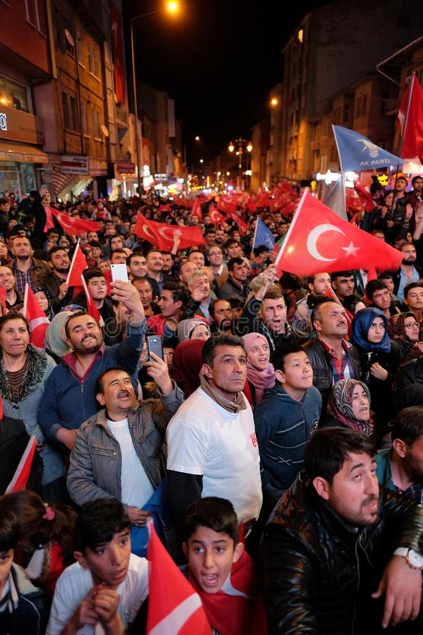 Торжество Турции референдума стоковые изображения rf