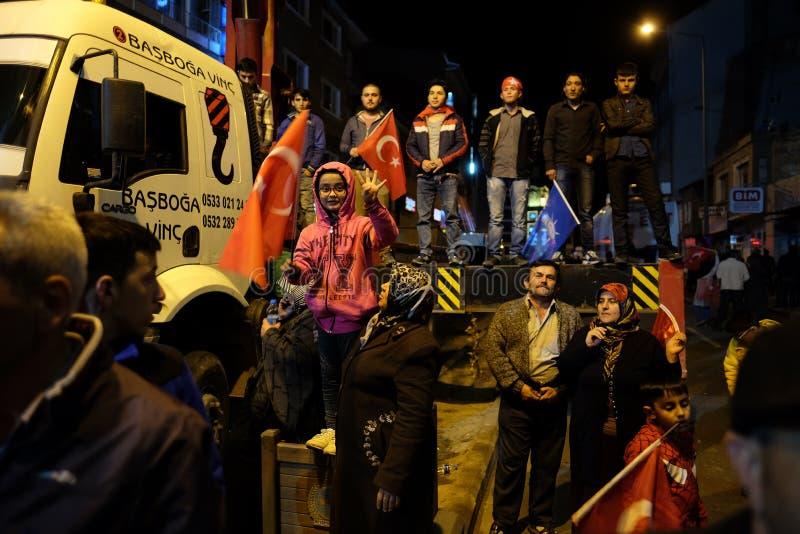 Торжество Турции референдума стоковое фото rf