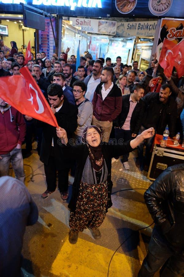 Торжество Турции референдума стоковое изображение