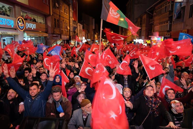 Торжество Турции референдума стоковые фото
