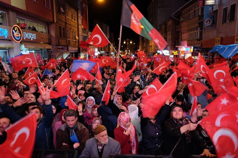 Торжество Турции референдума стоковая фотография rf