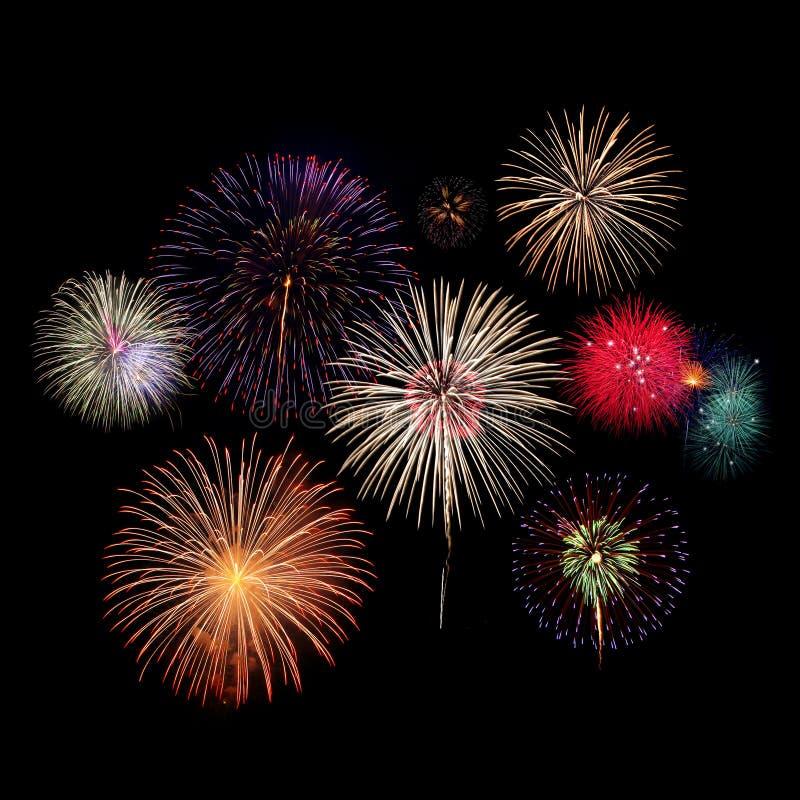 Торжество фейерверков на ноче стоковая фотография rf