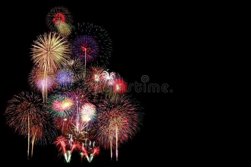 Торжество фейерверков на ноче стоковое изображение rf