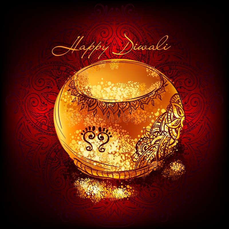 Торжество фестиваля Diwali иллюстрация вектора