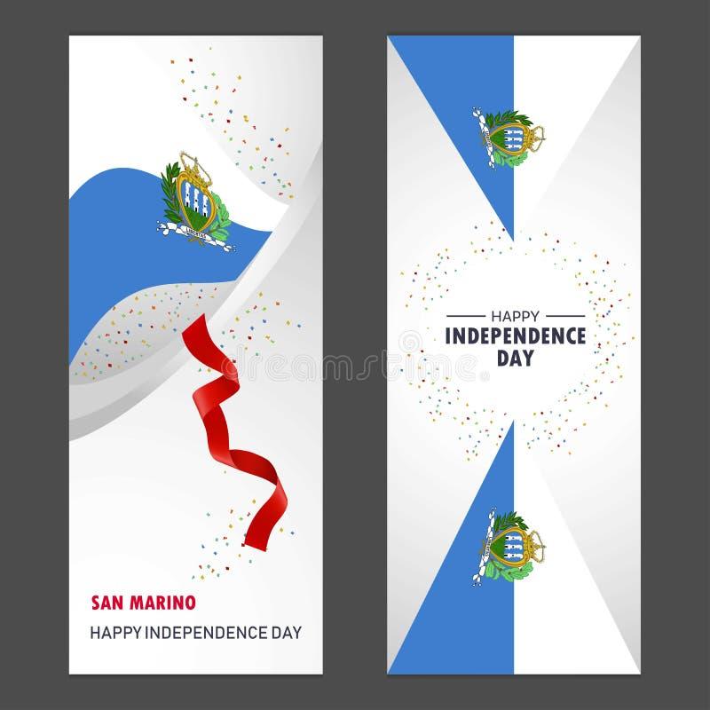 Торжество Backgroun Confetti Дня независимости Сан-Марино счастливое бесплатная иллюстрация