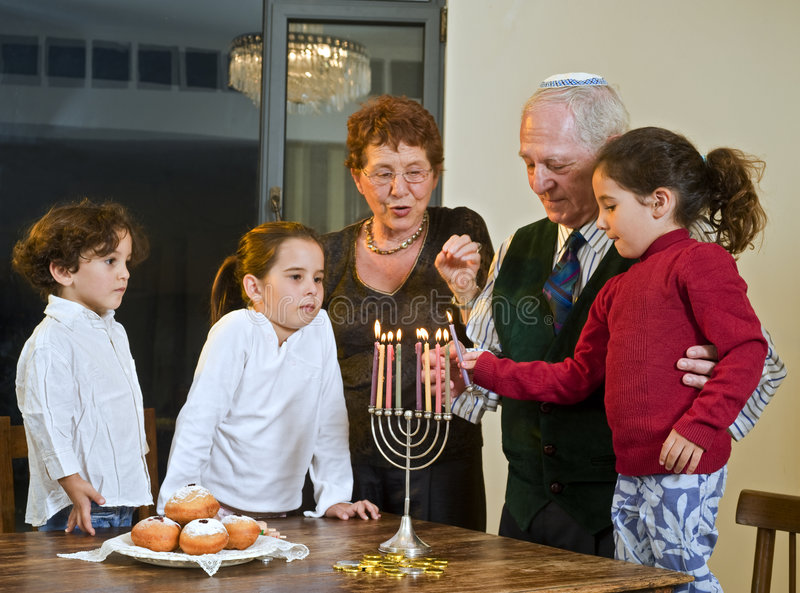 торжество hanukkah стоковые изображения