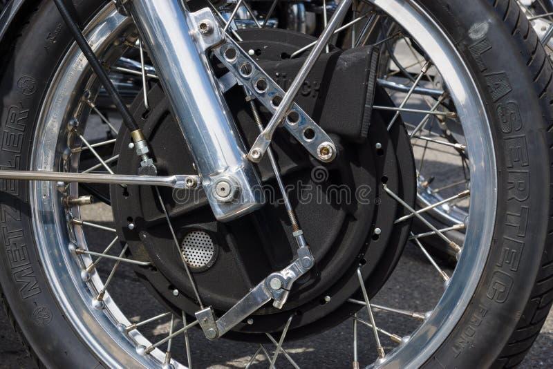 Тормоз уникально магния передний мотоцикла жует мамонт TTS 1200 стоковые фотографии rf