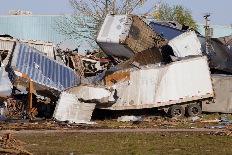 торнадо повреждения стоковое изображение