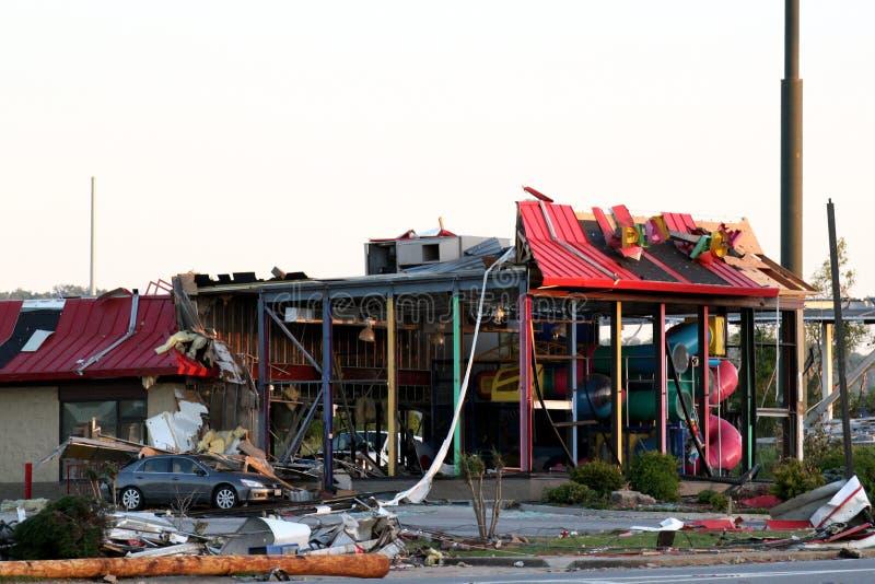 торнадо ringgold Georgia повреждения стоковое фото rf