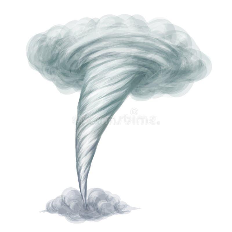 Торнадо вектора стиля шаржа нарисованный рукой бесплатная иллюстрация