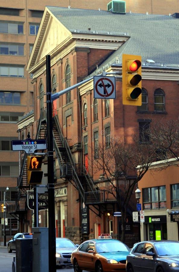 ТОРОНТО, КАНАДА - 8-ОЕ ЯНВАРЯ 2012: Городской пейзаж центрального Торонто стоковое изображение