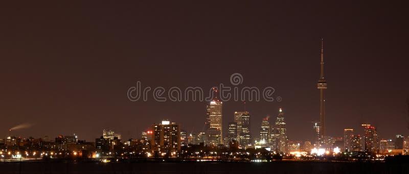 Торонто на ноче стоковое фото