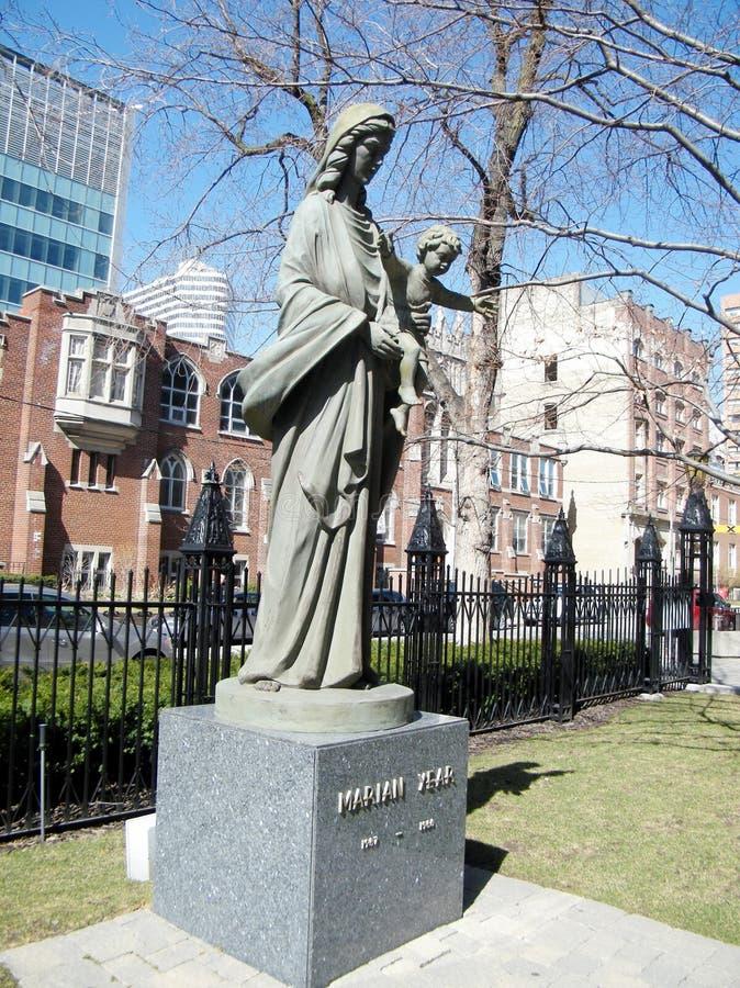 Торонто статуя на год 2010 Мэриан стоковые изображения