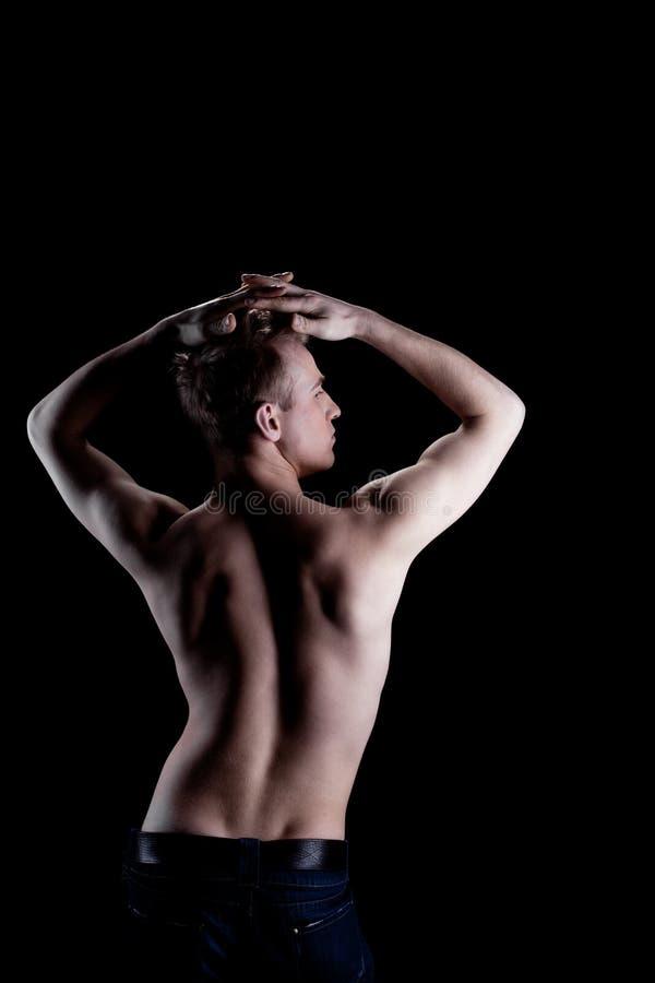 торс человека нагой сексуальный стоковое фото