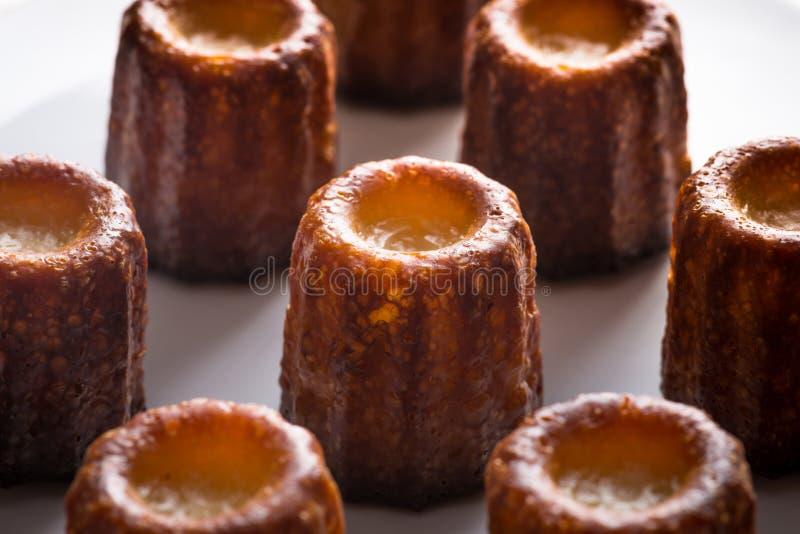 Торты Canele или Cannele Custand стоковая фотография