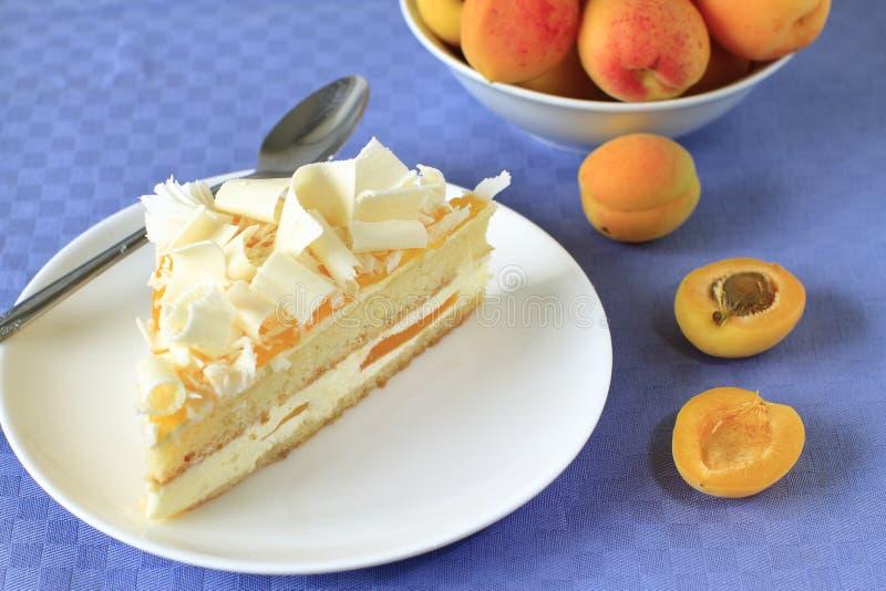 Торт абрикоса стоковое изображение rf