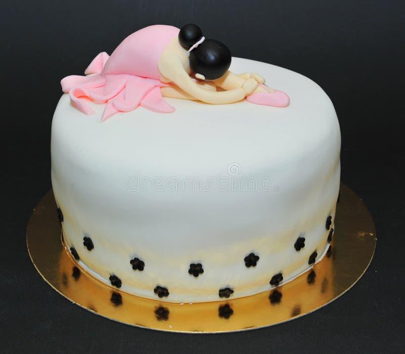 Торт балерины стоковое фото rf