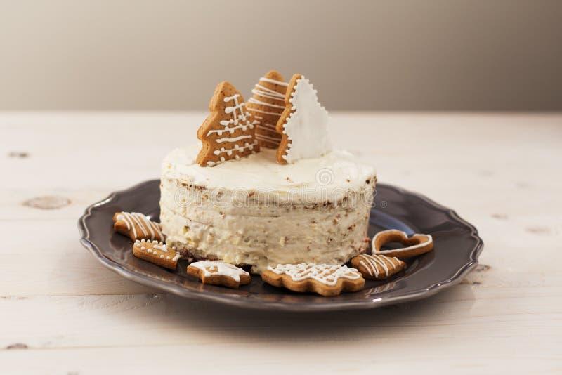 Торт белого рождества стоковое фото