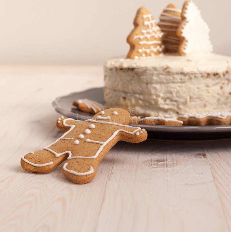 Торт белого рождества стоковая фотография rf