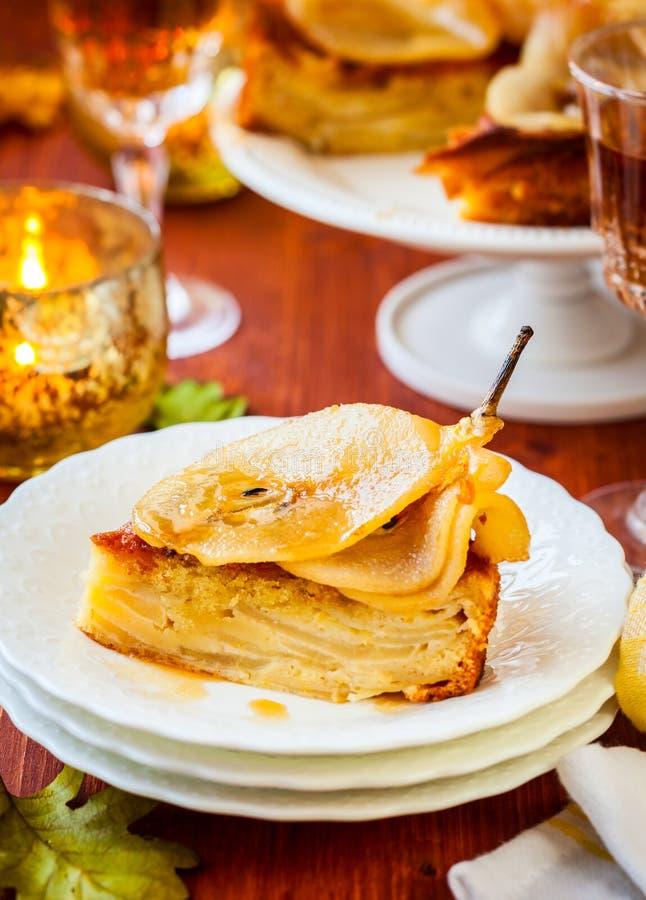 Торт груши на праздник стоковое изображение
