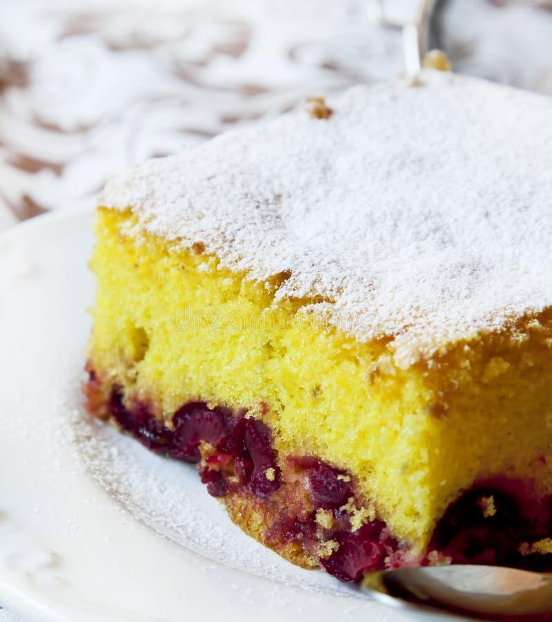 Торт губки вишни стоковая фотография rf