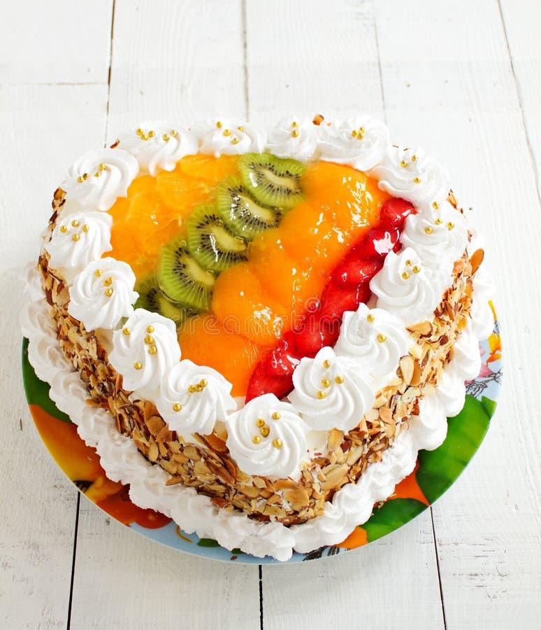 Торт губки плодоовощ стоковая фотография