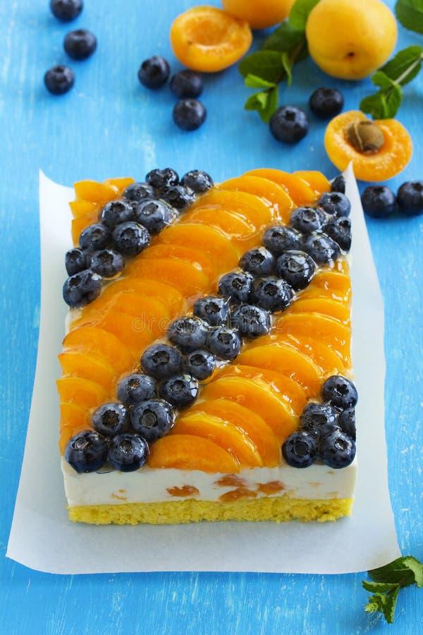 Торт губки с муссом югурта стоковое изображение