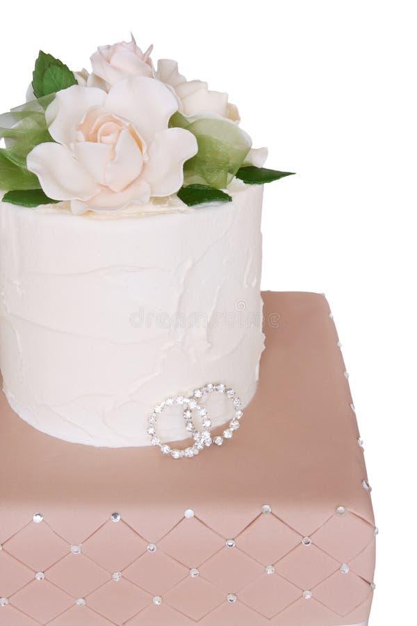 торт звенит венчание стоковые изображения rf