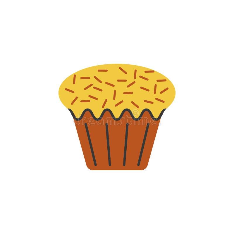 Торт, значок цвета пирожного Элемент иллюстрации рождества и Нового Года Наградной качественный значок цвета графического дизайна иллюстрация вектора