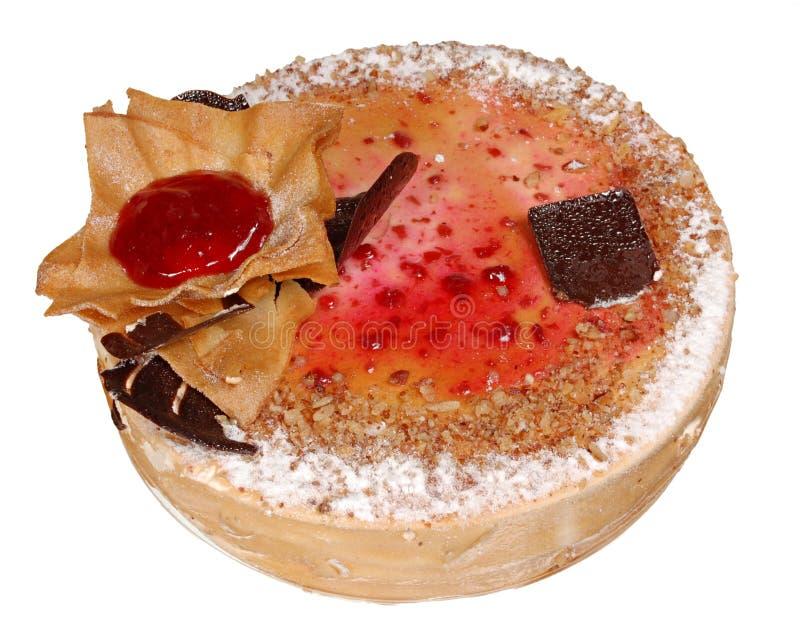 Download Торт изолированный на белой предпосылке Торт с шоколадом, плодоовощ и сливк Стоковое Фото - изображение насчитывающей closeup, еда: 40587718
