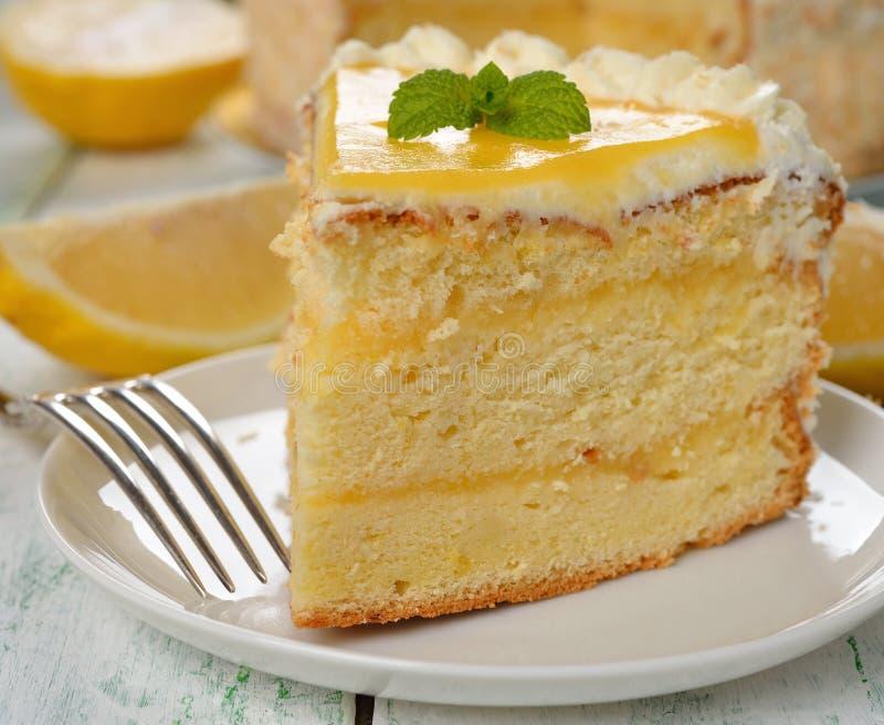 Торт лимона стоковое фото