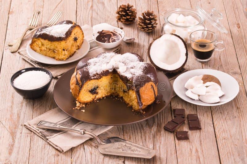 Торт кокоса шоколада стоковая фотография rf