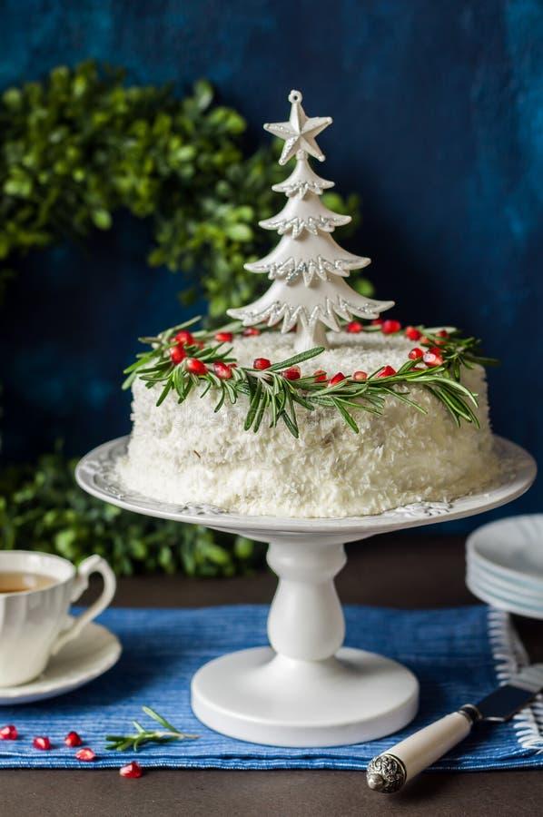 Торт кокоса Cristmas стоковые изображения