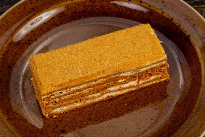Торт меда Delicous стоковое фото rf