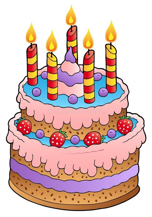 торт миражирует клубники иллюстрация штока