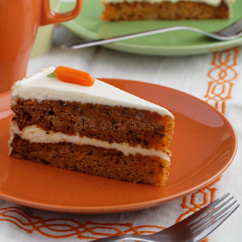 Торт моркови стоковая фотография rf