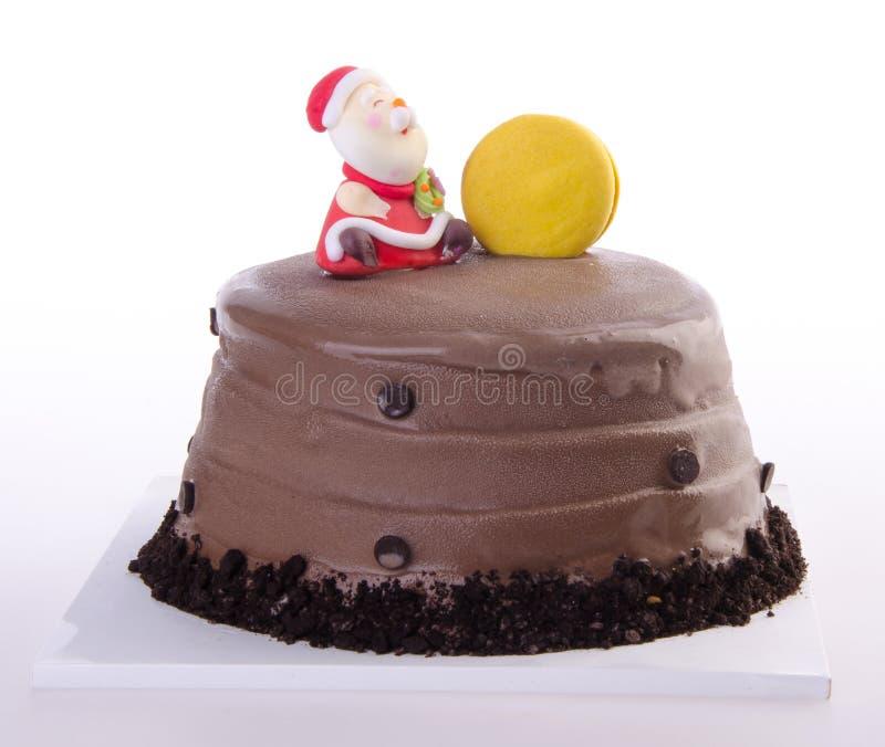 Торт, торт мороженного рождества стоковые фотографии rf