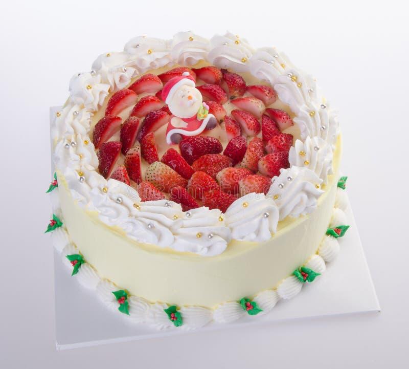 Торт, торт мороженного рождества стоковое изображение